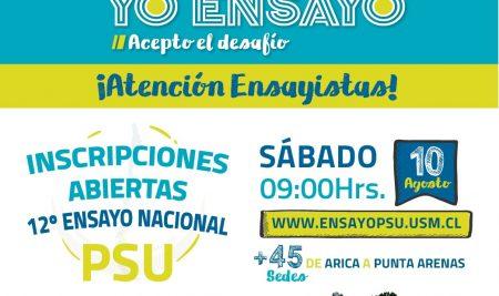 >> Ensayo Nacional Universidad Técnica Federico Santa María 2019